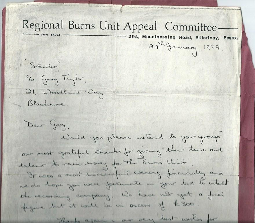 Burns Unit Letter